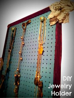 1000 images about getting organized on pinterest shelf for Make your own jewelry rack