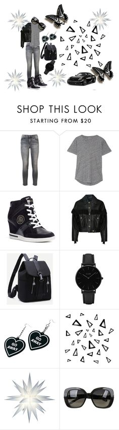 """Untitled #44"" by ajrenae07 on Polyvore featuring Current/Elliott, Madewell, Tommy Hilfiger, Chanel, CLUSE, Witch Worldwide, Nika, Porsche and Bottega Veneta"