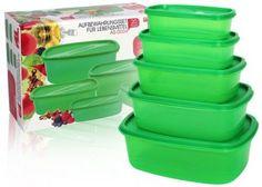 20 részes szett, praktikus, egymásba helyezhető, zöld tárolódobozokkal és frissentartó tasakokkal Ice Cube Trays