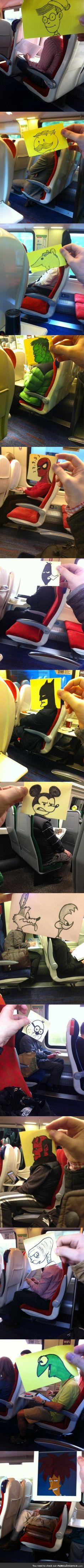 Commuting Doodles by October Jones. FUNNY