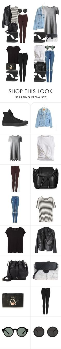 outfits with all black converse by style-by-gabriella on Polyvore featuring Converse, Levis, Balenciaga, VILA, Topshop, T By Alexander Wang, Acne Studios, Proenza Schouler, Alexander Wang and Givenchy