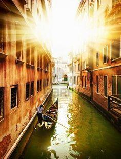 Venice - Exquisite antique buildings along Canals.
