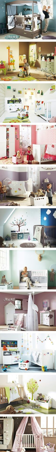 nursey ... i like the all in one crib (1st pic) and i like the all in one changing station idea (7th pic).. great use of space!!
