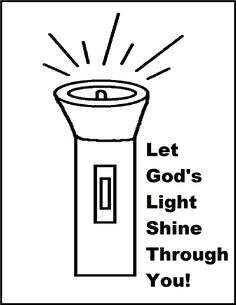 Flashlight Coloring Page Let Gods Light Shine Through You