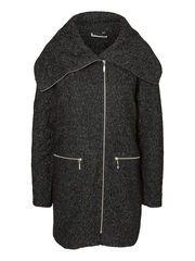 WOOL COAT, Dark Grey Melange