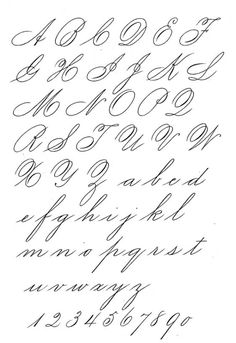 """""""Ladies Hand"""" style of Spencerian script. Quite exquisite!"""