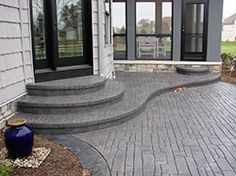 stamped concrete steps, how to