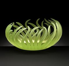 """""""Darren's Nest"""" glass sculpture by Paul Schwieder....amazing!    But my boring side thinks how would you clean it...?!"""