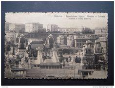 GENOVA ESPOSIZIONE IGIENE,MARINA E COLONIE,STADIUM E VEDUTA GENERALE,CON INSEGNA BITTER CAMPARI 1917' - Delcampe.it