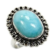 Rare Dominican Larimar & .925 Sterling Silver by TheSilverPlaza