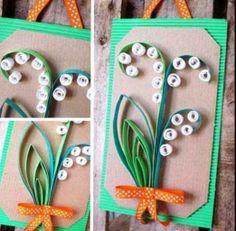 #kukka #kesä #kortti #kevät #äitienpäivä #kielo #taittelu #äitienpäiväkortti #hääkortti