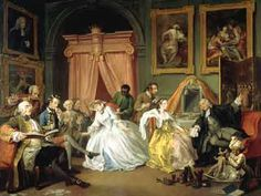 """William Hogarth Marriage à la Mode: The Toilette England (c. National Gallery, UK """"'Marriage A-la-Mode' was the first of Hogarth's satirical moralising series of engravings that took the upper. William Hogarth, Thomas Gainsborough, British History, Art History, Oil On Canvas, Canvas Prints, Art Prints, Satire, Joseph Mallord William Turner"""
