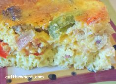 Cut the Wheat, Ditch the Sugar: Loaded Quiche Breakfast Bake: Gluten Free, Low Carb, Sugar Free Wheat Belly Recipes, Low Sugar Recipes, Wheat Free Recipes, No Sugar Foods, Diabetic Recipes, Gluten Free Recipes, Snack Recipes, Breakfast Recipes, Breakfast Bites