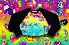 """✌""""Be a #rainbow in someone else's #cloud"""" ✌- Maya Angelou #NEW Electric #Gradient #Tie #Dye #American #Apparel #Style 3/4 Sleeve Raglan / #Baseball #Crop #Top #Tee just added to our #SHOP! LINK'S IN BIO❣ 