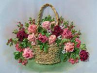 Gallery.ru / Корзинка с цветами - Вышивка лентами, ч4 - silkfantasy