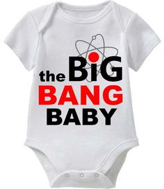 The Big Bang Baby_White Shirt_Red and Black_Funny by FunnyBabyTees