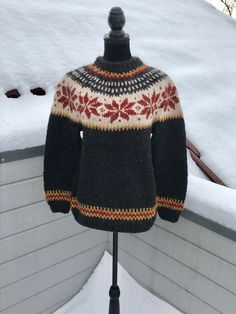 Excited to share this item from my #etsy shop: Norwegian handknitted sweather own design
