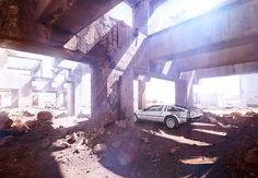 Photograph by Markus Wendler.  Automotive, DeLorean, Advertising, Landscape, Photography