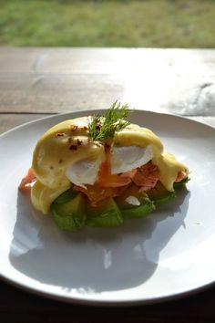 Salmon Avocado Eggs Benedict