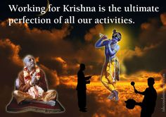 Working For Krishna  For full quote go to: http://quotes.iskcondesiretree.com/bhakti-charu-swami-on-working-for-krishna/  Subscribe to Hare Krishna Quotes: http://harekrishnaquotes.com/subscribe/  #Perfection, #Work