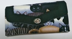 Necessary Clutch Wallet - cat fabric by TheHandMaidensCloset on Etsy