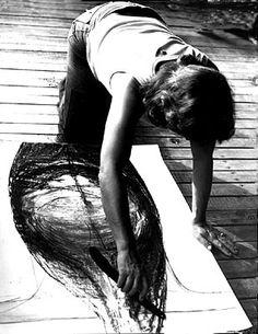 Magdalena Abakanowicz. #artistatwork #artiststudio #MagdalenaAbakanowicz
