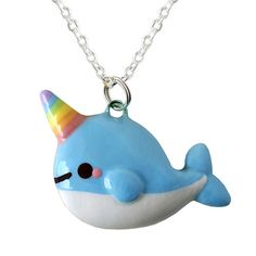 Handmade Gifts | Independent Design | Vintage Goods Kawaii Narwhal Necklace - Rainbow Edition! - Jewelry - Girls