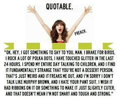 THIS QUOTE IS MY LIFE IN A FEW SENTENCES  TV Quote - 'New Girl' / Zooey Deschanel  /