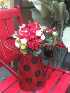 watering can--love the ladybug look!
