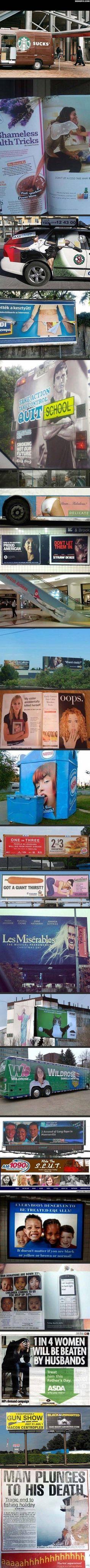 Unfortunate advertising fails