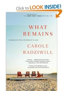 Sounds rather desperately sad, but oddly no less worth reading for that.  What Remains: A Memoir of Fate, Friendship, and Love: Carole Radziwill: 9780743277181: Amazon.com: Books