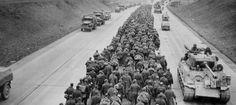 Mass German surrender, 1945.
