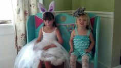 Alice and the white rabbit. Ellie's actual party.