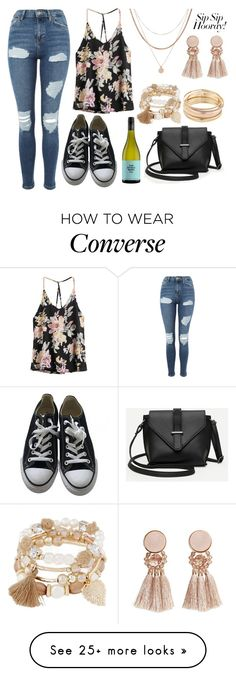 """""""Causal Drinking"""" by christinia-333 on Polyvore featuring Topshop, Converse, Mudd, Luv Aj and MANGO"""
