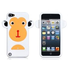 Curious Monkey White iPhone 5 Case