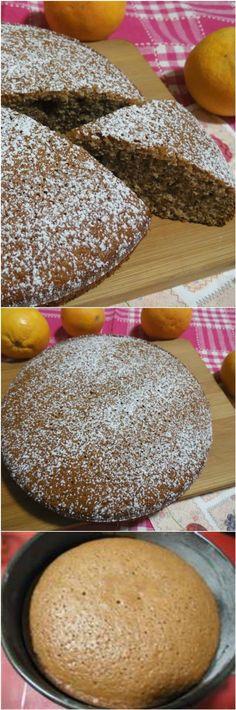 Torta di nocciole e succo di arancia ! #torta #nocciole #succodiarancia #ricettegustose