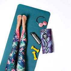 Starting the day with a morning stretch in our Jungle Fever Active Leggings…