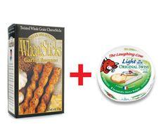 2 John Wm Macy's WheatSticks   1 wedge The Laughing Cow Light Swiss Cheese  #lowcalorie #smooth #fitness