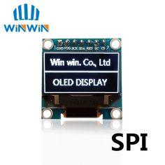 "1 unids 0.96 oled blanco/azul/amarillo azul Nuevo 128X64 OLED LCD Módulo de Pantalla de LEDS 0.96 ""Comunicación SPI 0.96 pulgadas OLED"