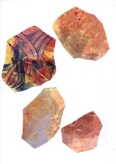 Art and science - geology monotypes. Ren Adams. 2013-2014. In early stages, preparing for use in other projects.