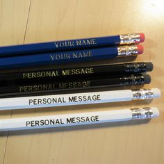 Custom Pencils, Personalized Pencils, Bubble Wrap Envelopes, School Events, Family Reunions, Clear Bags, Foil Stamping, Student Gifts, Kind Words