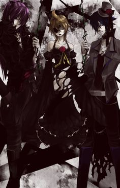 I do believe that is Len in that dress...<<< it is, my yaoi senses are tingling, TINGLING I TELL YOU! TINGLING!!!!