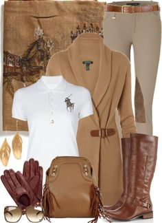 Tan Leather Riding Boot outfit - Can't wait to wear this to The Hunt........ http://ralphpoloshirts.tumblr.com/