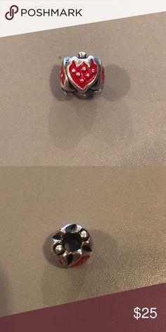 Authentic Pandora charm Authentic Pandora strawberry charm. No trades. Pandora Jewelry
