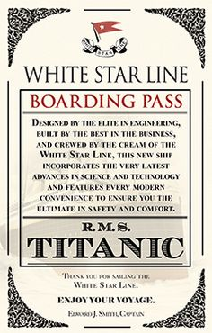 Titanic boarding pass printable google search titanic titanic boarding pass printable google search titanic artifacts pinterest titanic titanic sinking and titanic artifacts pronofoot35fo Images