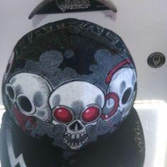 @Hatrack_FR: #Hatrack #collaboration #Cap #Art by #Gomjahrash #Skull #Design #capholder #Handmade #Pain https://t.co/bNX2axndxR https://t.co/fJoNReDBD3