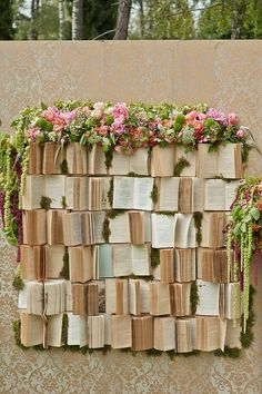 Backdrop books | Such a cute idea for a chic, bohemian wedding! #wedding #love