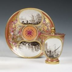 Tableware: A Hard-Paste Sèvres Porcelain Covered Cup and Cover, 1795