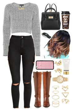 """""""29 October, 2015"""" by jamilah-rochon ❤ liked on Polyvore featuring H&M, Naturalizer, rag & bone, Michael Kors, Forever 21, Marc Jacobs, Steve Madden and Victoria's Secret"""