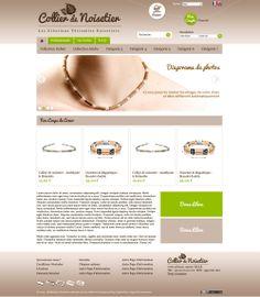 Maquette réalisée pour le site collierdenoisetier.net
